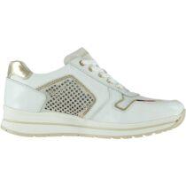 Sneaker Donna Nero Giardini con Zip in Pelle Bianca - P805241D707