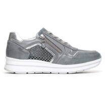 Sneaker Donna Nero Giardini con Zip in Pelle Blu - P805241D205