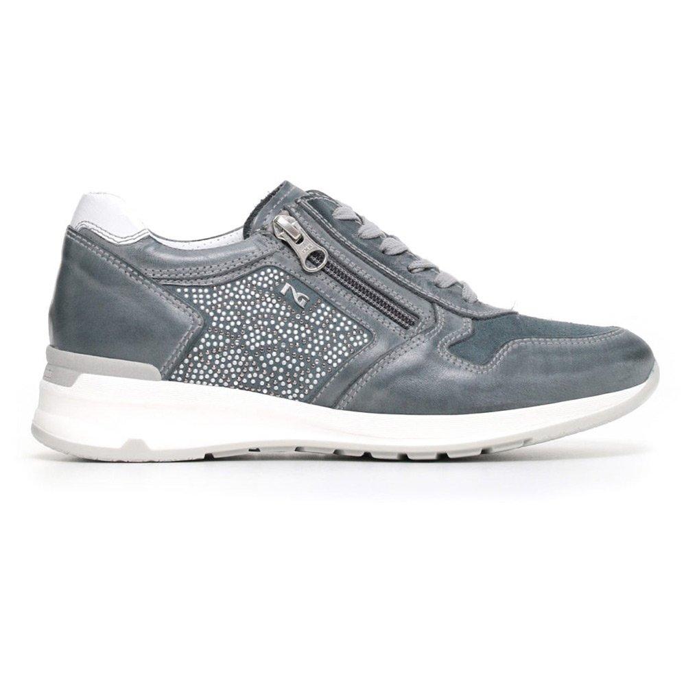 Sneaker Donna Nero Giardini in Camoscio Blu P805053D205