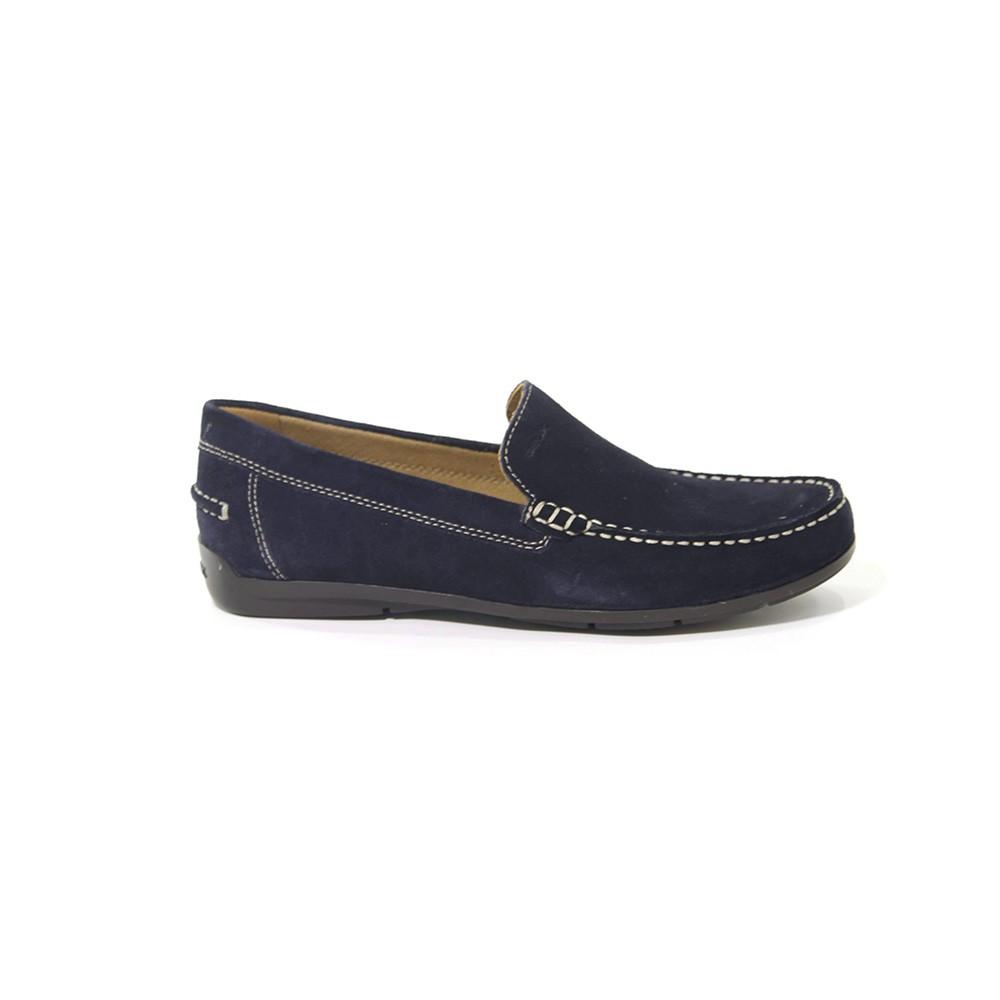 dove acquistare calzature compra meglio Mocassino Uomo Geox in Camoscio Blu