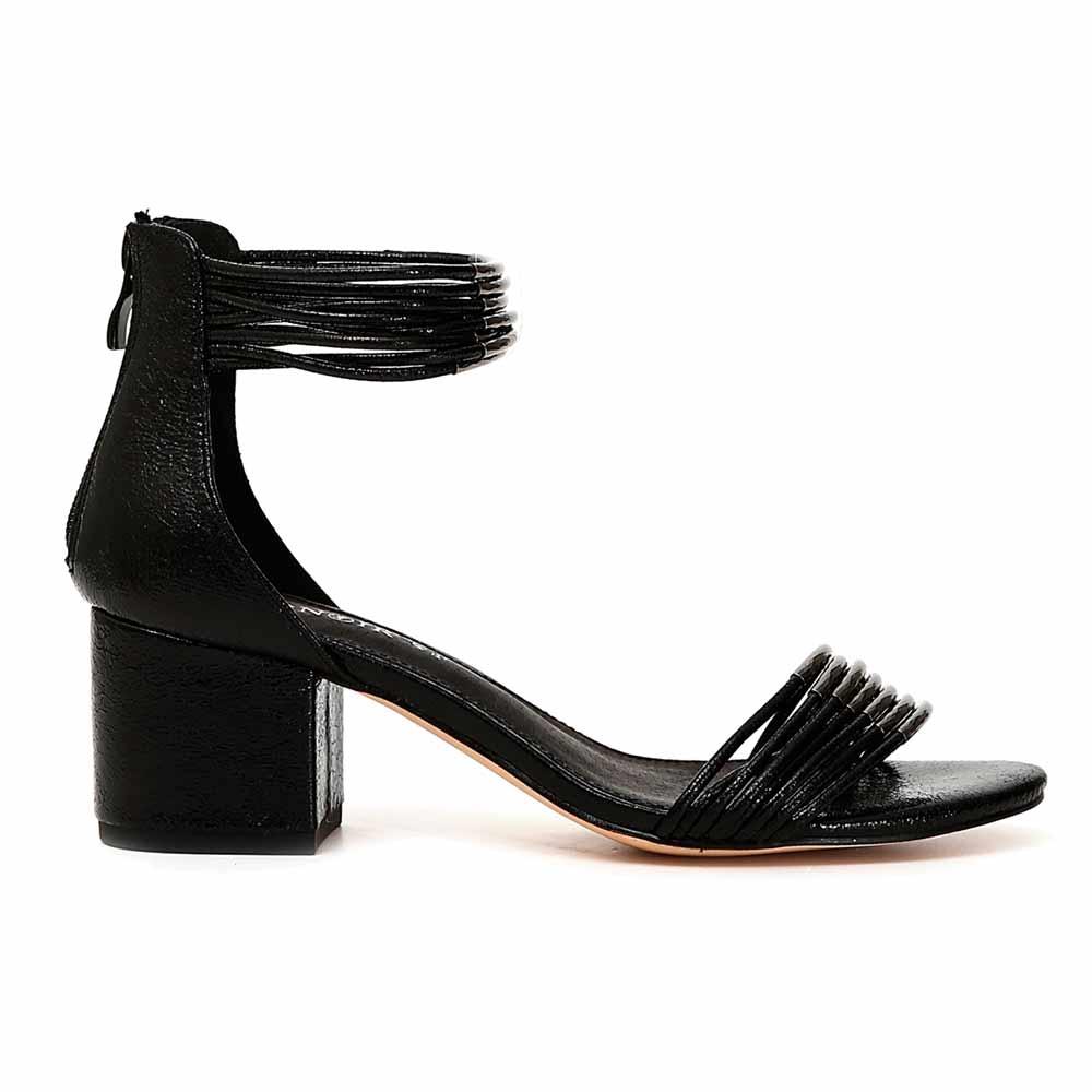 Sandalo Donna Cafè Noir con Tacco Medio Nero