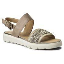 Sandalo Donna Geox in Pelle Gold Beige - D827WG 0LSEW C5379