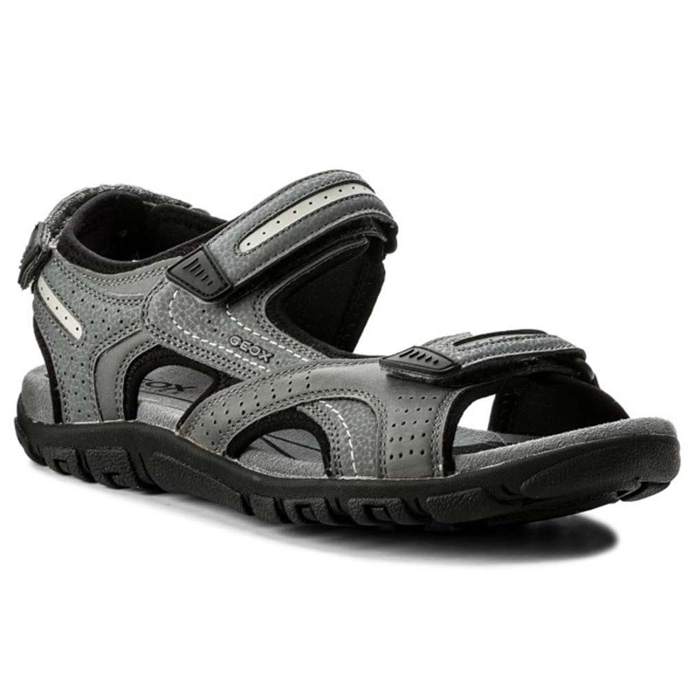 Geox S. STRADA Uomo Sandalo sandali Sportivo Nero Nuovo