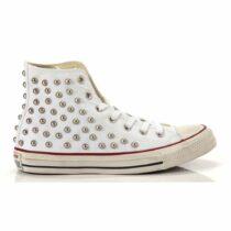 Sneaker All Star Alta Unisex Bianca con Borchie Converse - 160959C