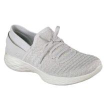 Sneaker Donna Skechers in Tessuto Grigia Silver - 14975SIL