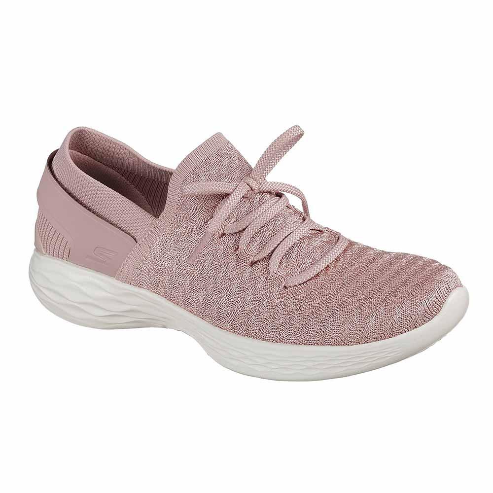 Sneaker Donna Skechers in Tessuto Nera Rosa - 14975MVE