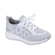 Sneaker Running Donna Skechers in Tessuto Bianca - 31368WHT