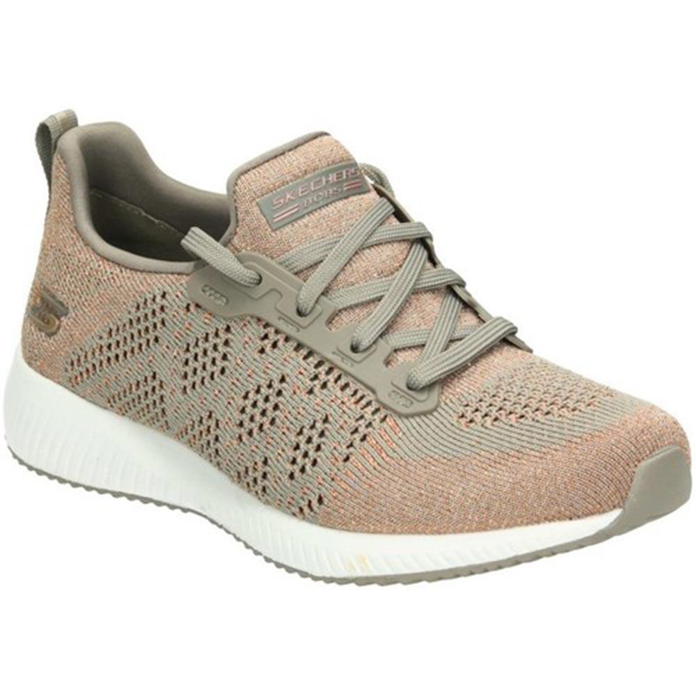 Sneaker Running Donna Skechers in Tessuto Marrone - 31368TPE