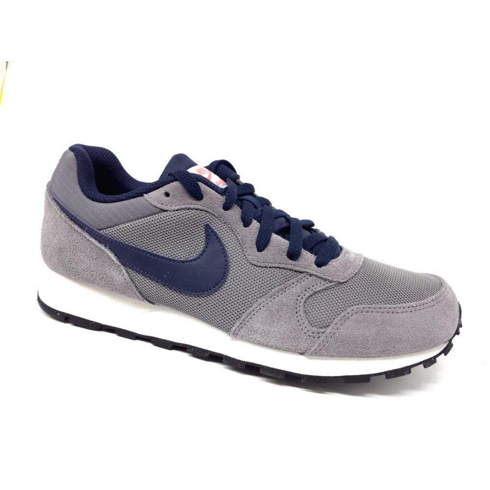 Sneaker Running Uomo Nike MD Runner 2 Grigia e Blu - 749794007