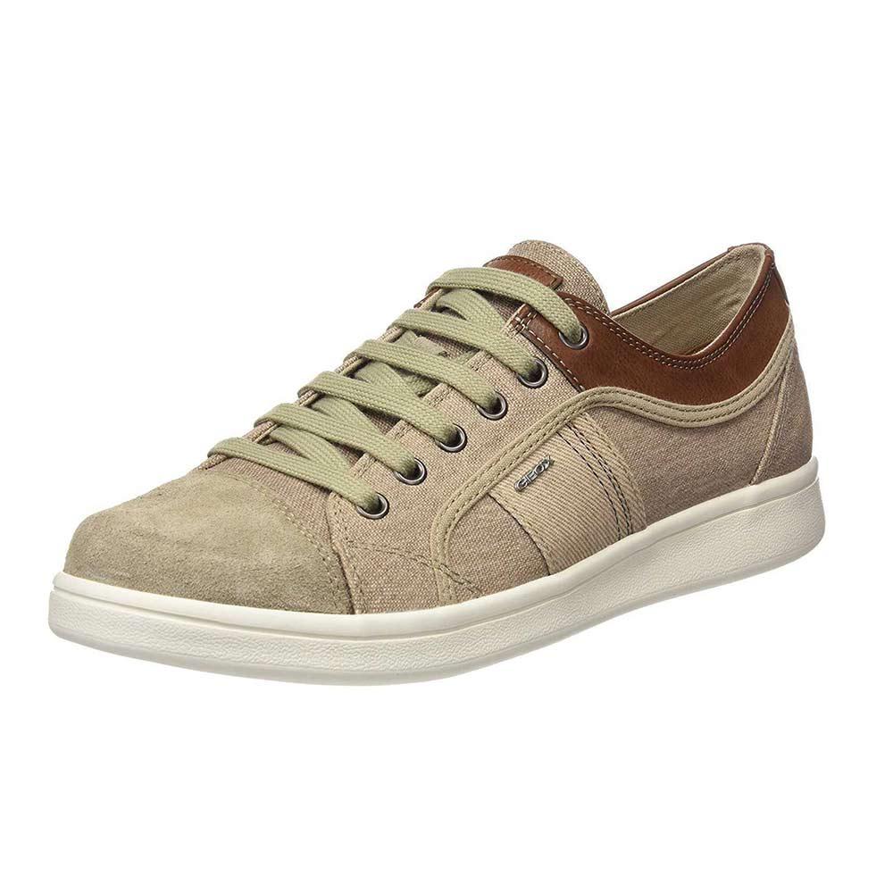Sneaker Uomo Geox in Camoscio Beige U820LB 0NB22 C5015