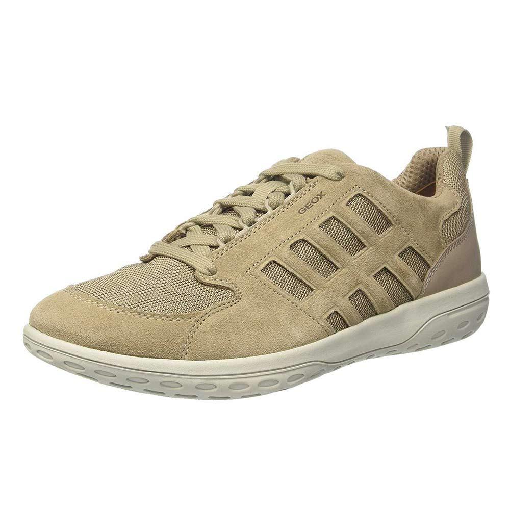 Sneaker Uomo Geox in Camoscio Beige - U824AA 02214 C5004
