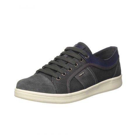 Sneaker Uomo Geox in Camoscio Grigia - U820LB 0NB22 C9002