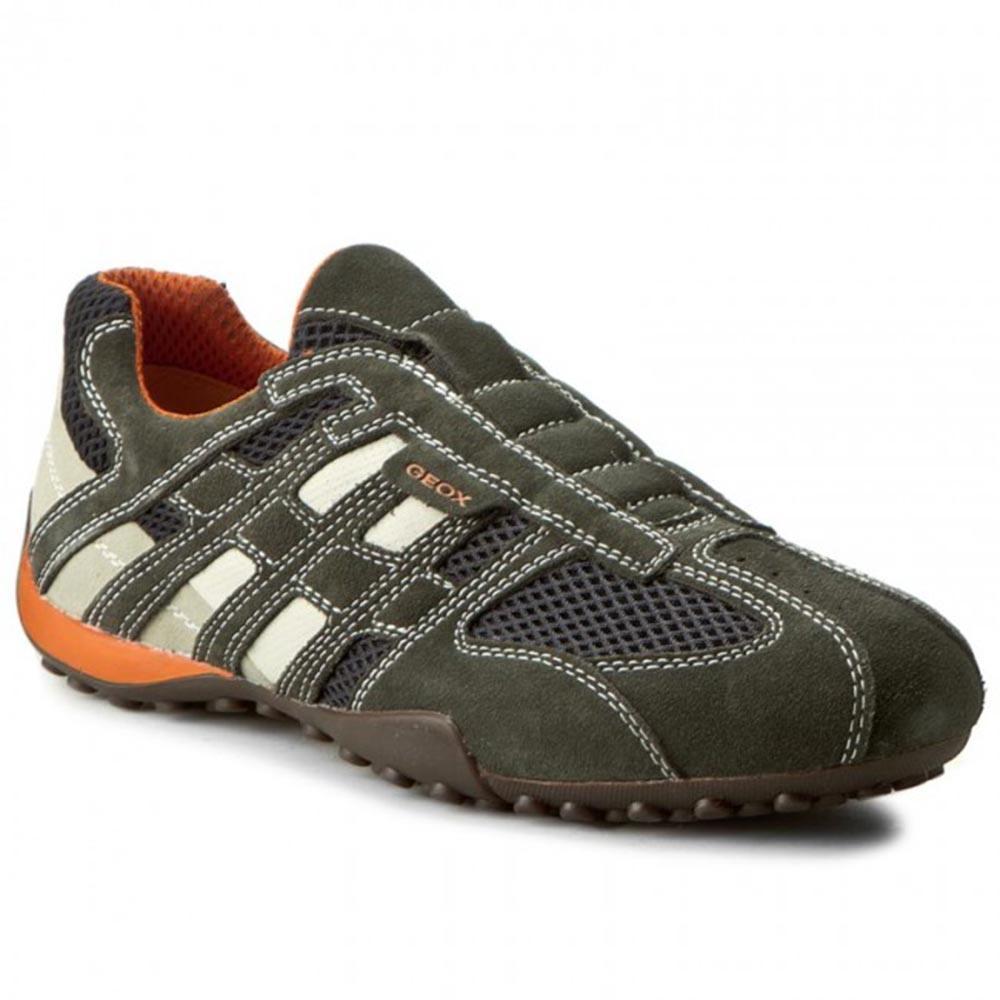 Sneaker Uomo Geox in Camoscio Verde U4207L 02214 C1300
