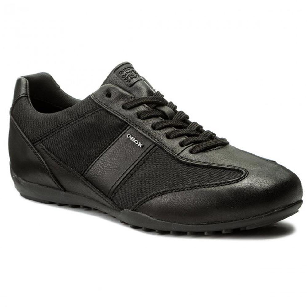 Sneaker Uomo Geox in Nappa Nera - U74T5A 08511 C9999