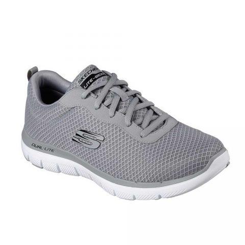 Sneaker Uomo Skechers in Tessuto Grigia - 52125