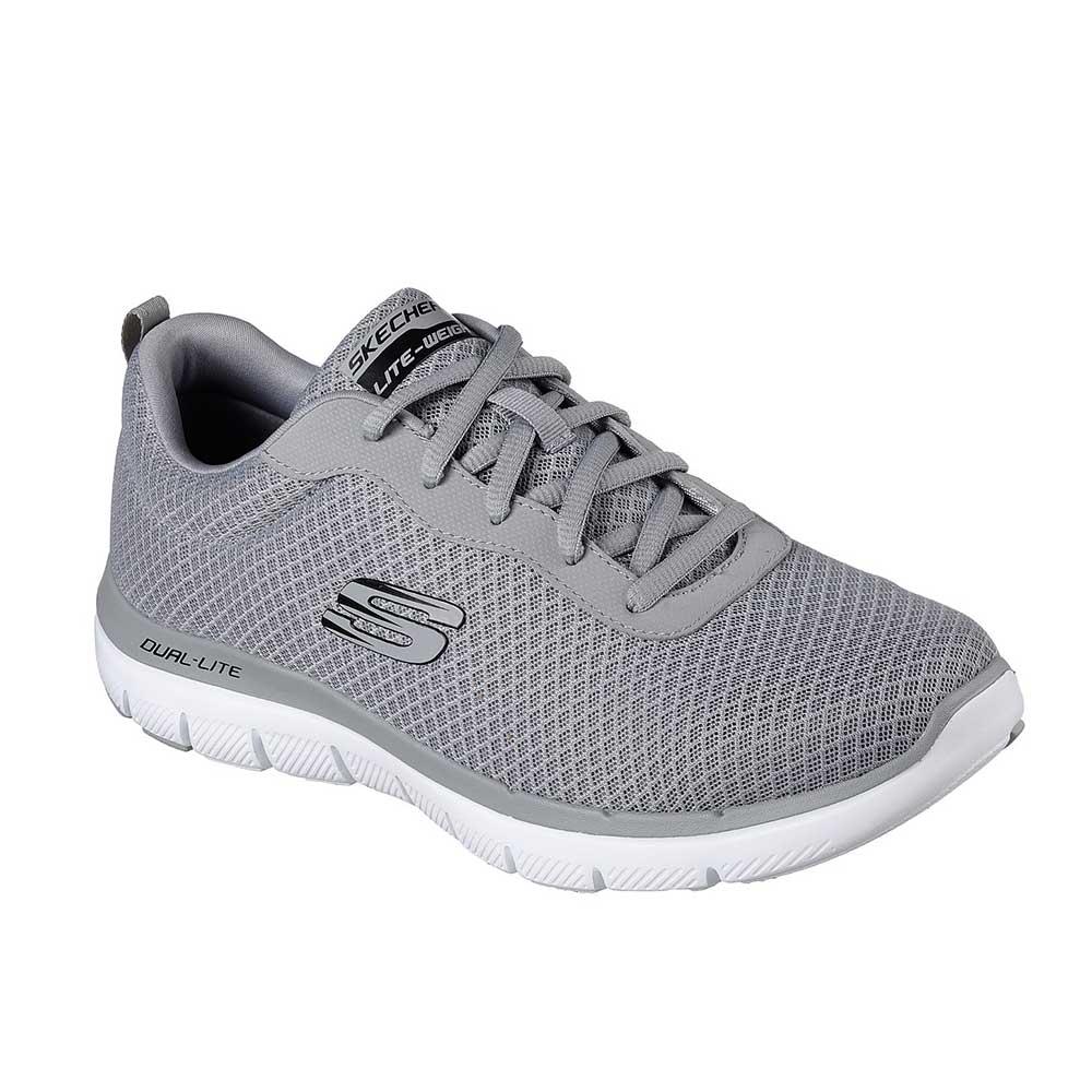 Dettagli su Sneaker Uomo Skechers in Tessuto Grigia - 52125