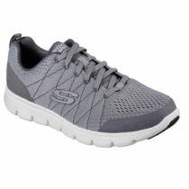 Sneaker Uomo Skechers in Tessuto Grigia - 52836