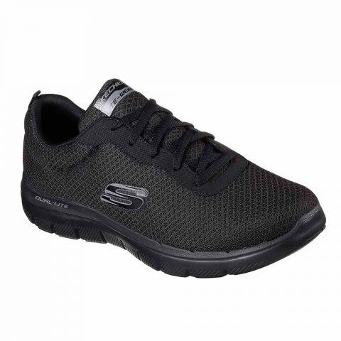 Sneaker Uomo Skechers in Tessuto Nera - 52125