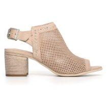 Sandalo Donna Nero Giardini con Pelle con Fibbia Beige - P805721D439