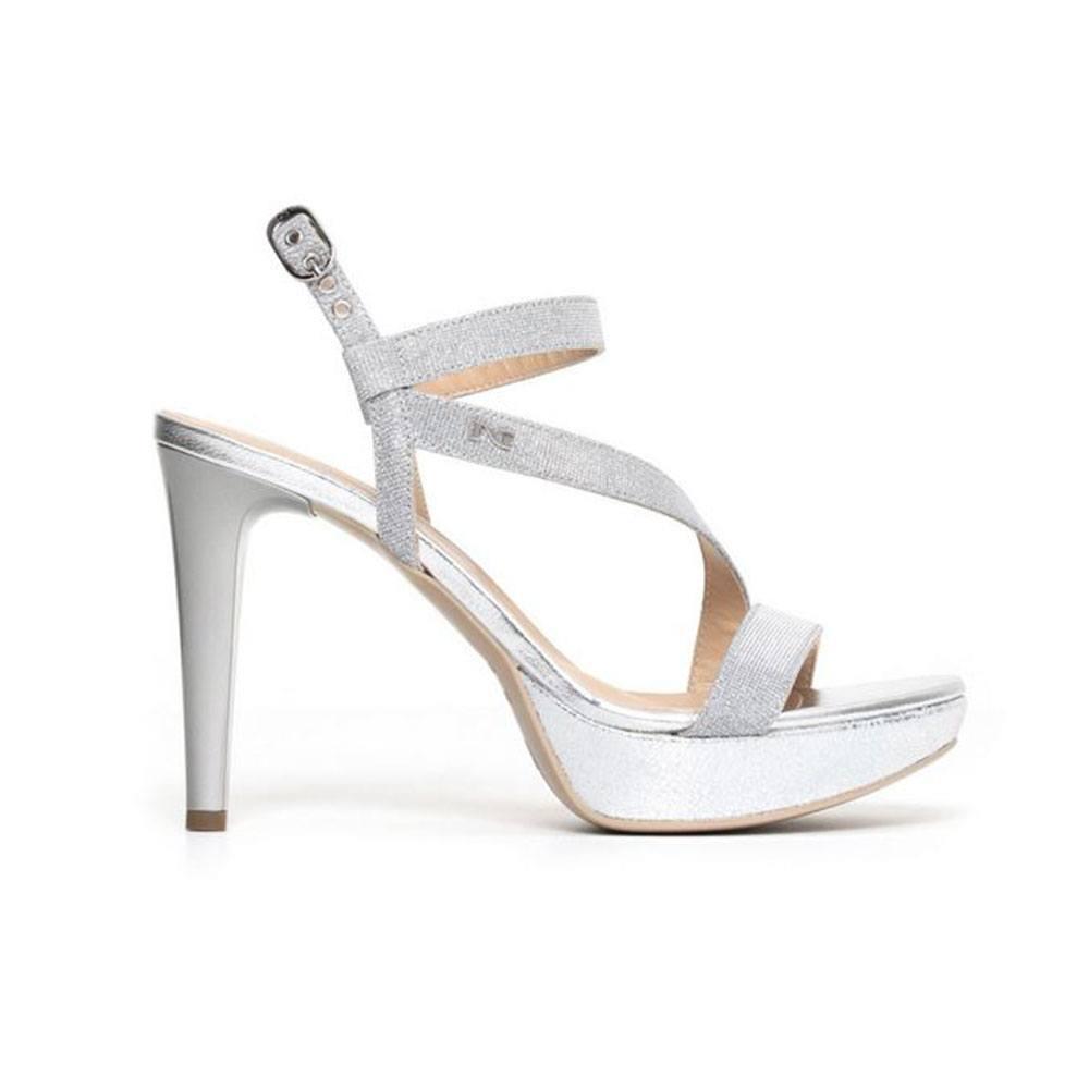 Sandalo Donna Nero Giardini con Tacco Ghiaccio P806070D705