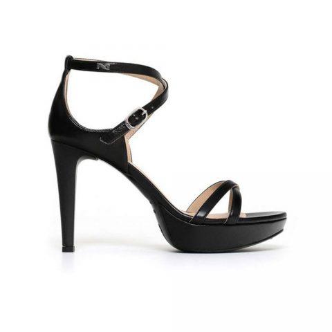 Sandalo Donna Nero Giardini con Tacco in Pelle Nero - P806040D100