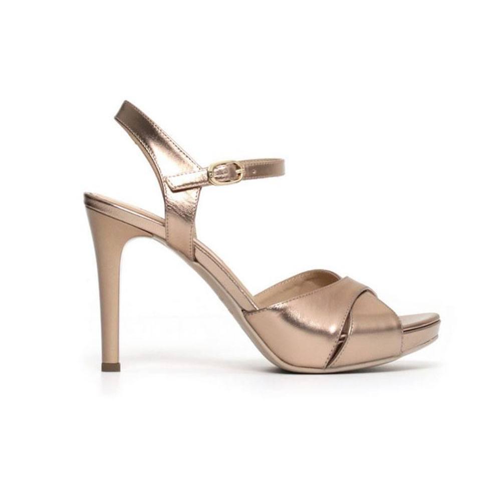 Sandalo Donna Nero Giardini con Tacco in Pelle Rose P806080D434