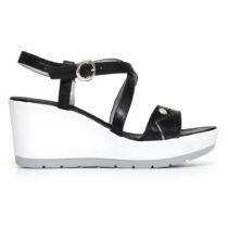 Sandalo Donna Nero Giardini con Zeppa Nero - P805710D100