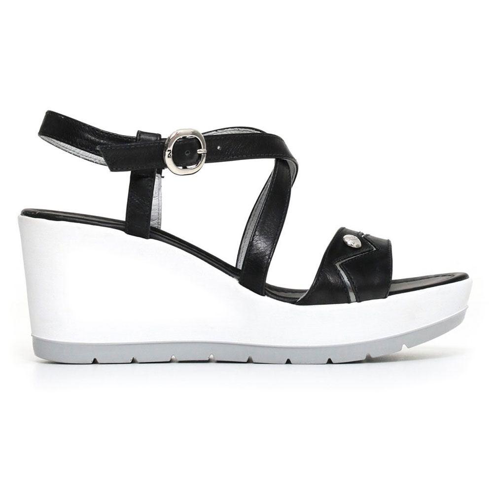 Sandalo Donna Nero Giardini con Zeppa Nero P805710D100