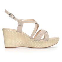 Sandalo Donna Nero Giardini con Zeppa Sabbia - P805662D410