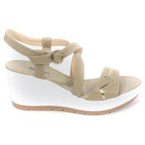 Sandalo Donna Nero Giardini con Zeppa Sabbia - P805710D410