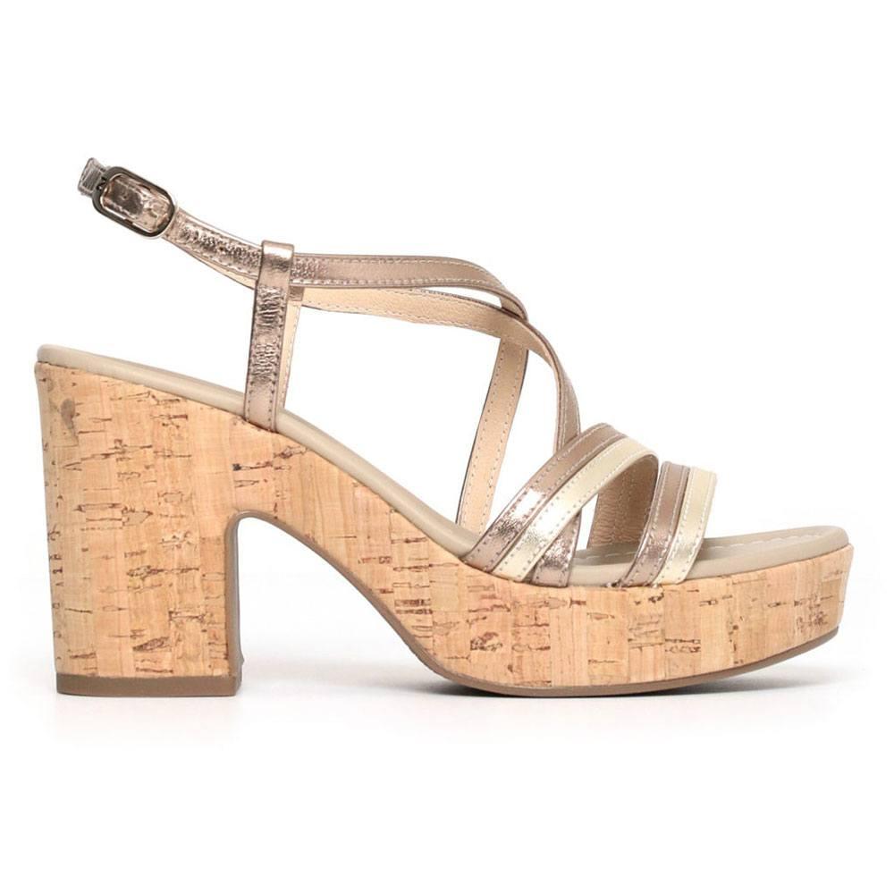 Sandalo Donna Nero Giardini in Pelle Beige P805695D434