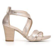 Sandalo Donna Nero Giardini in Pelle Platino - P805650D672