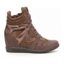 Sneaker Donna Marrone Alta Nero Giardini