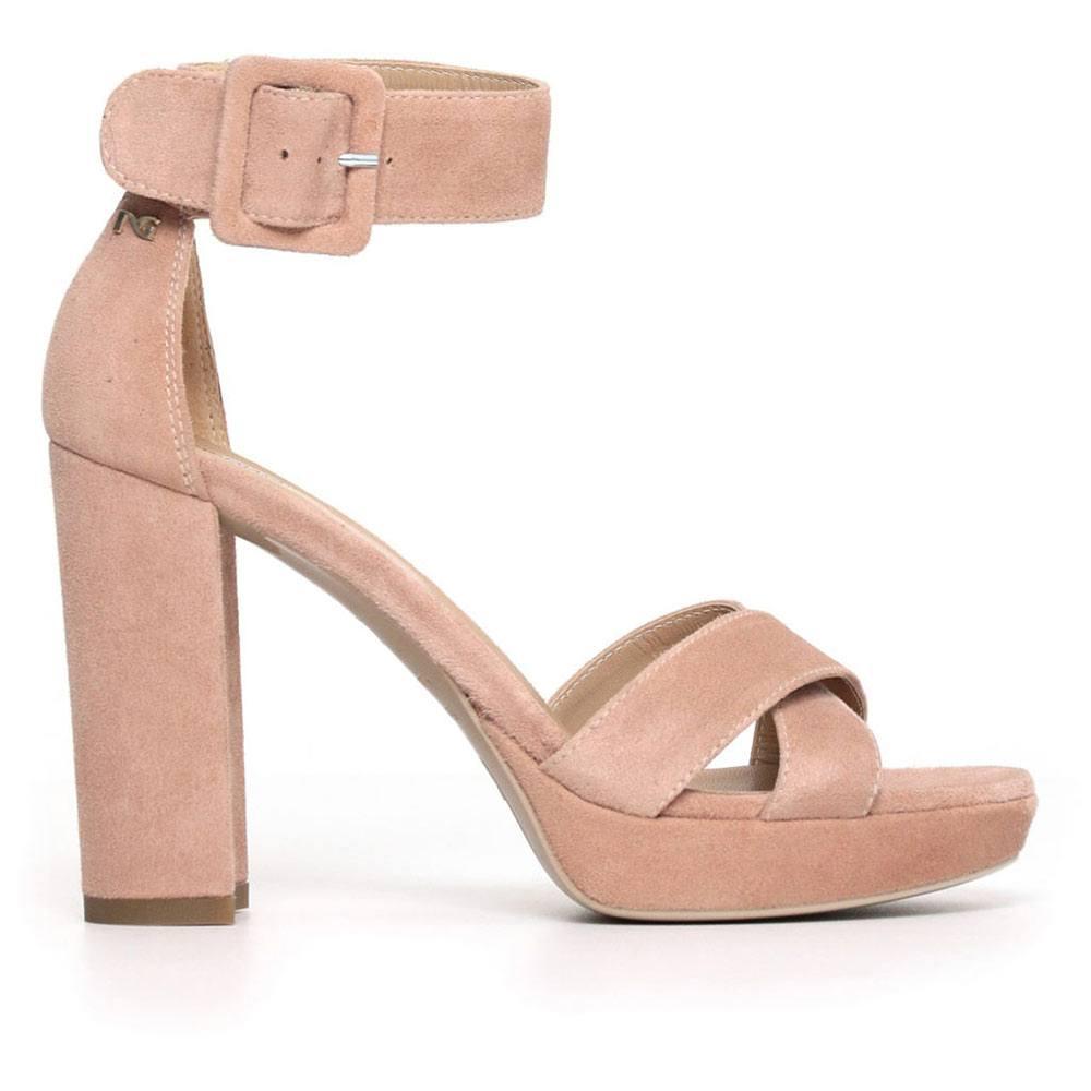 Sandalo Donna Nero Giardini in Pelle Rosa - P805840D660