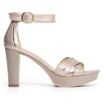 Sandalo Donna Nero Giardini in Pelle con Tacco - P805601D672