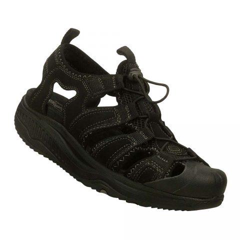 Sandalo Uomo Skechers in Pelle Nero - 66511BLK
