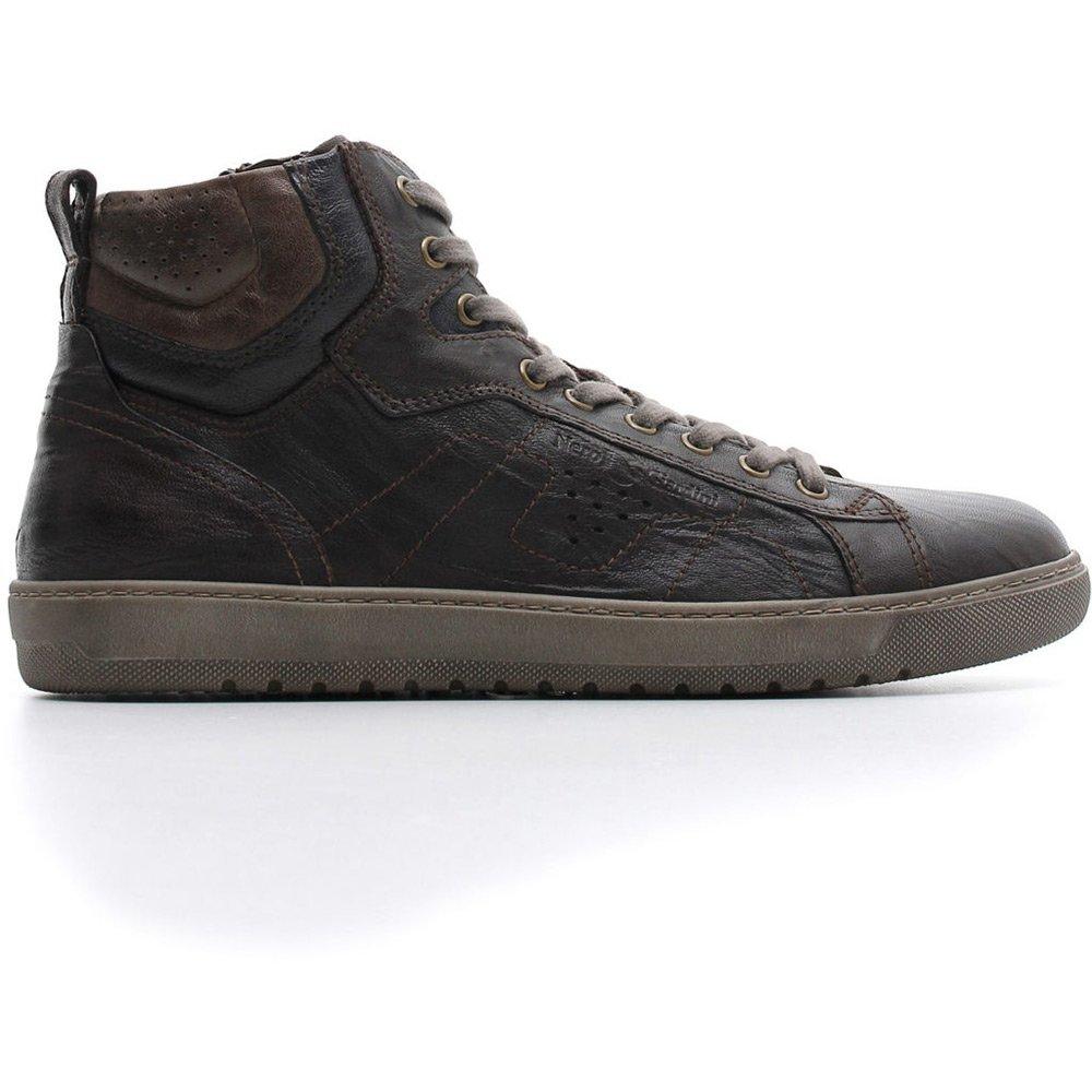 Marrone Uomo In Sneaker Pelle Alta Nero Giardini nym8PvN0wO