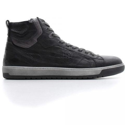 Sneaker Alta Uomo Nero Giardini in Pelle Nera - A800490U100