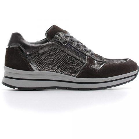 Sneaker Bassa Donna Nero Giardini in Camoscio Grigia - A806411D103