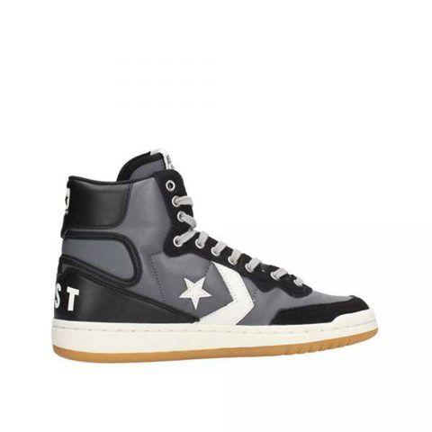 Sneaker Alta Fastbreak Hi Leather Uomo Nera e Grigia Converse - 162788C