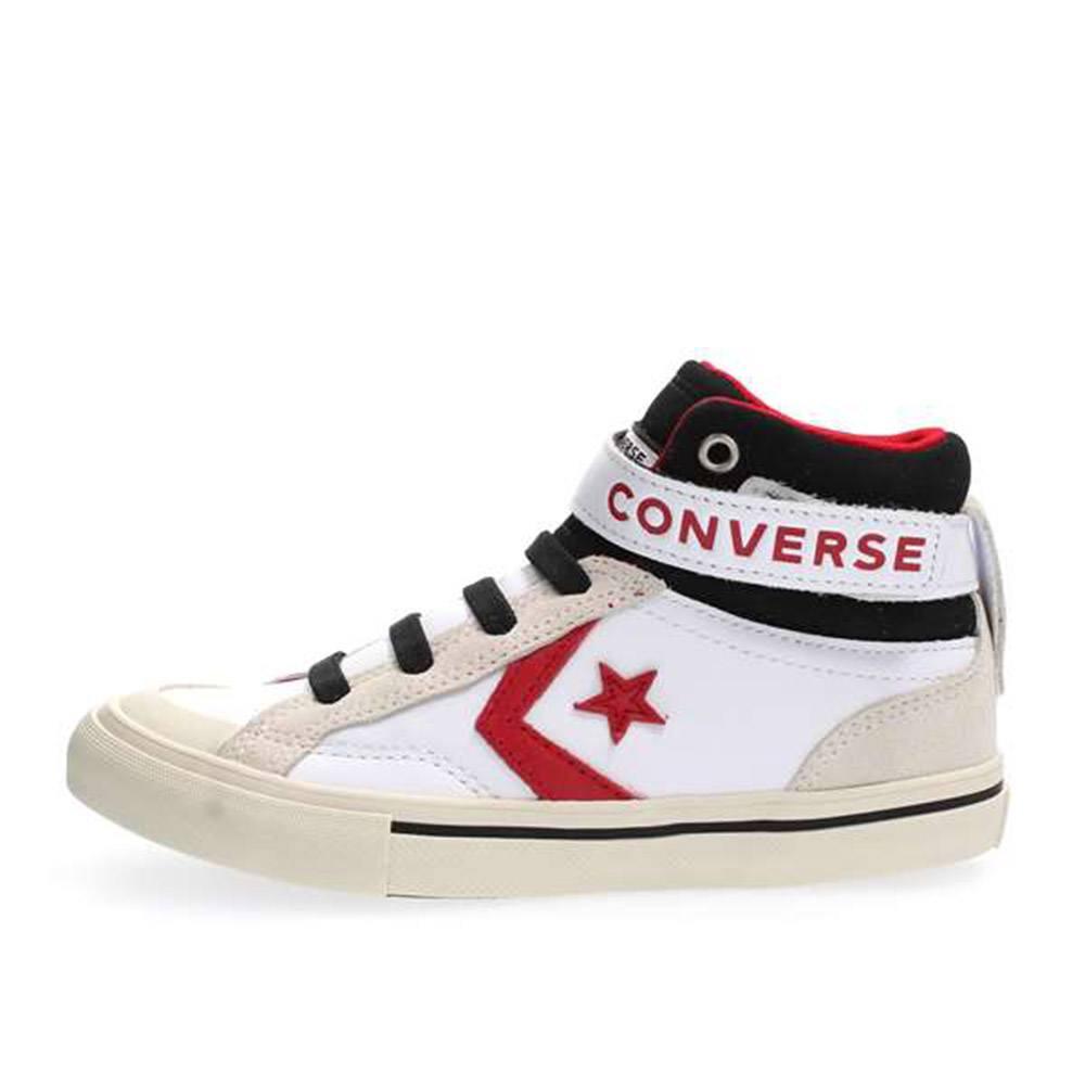 ace6e1e0bcdea Sneaker Alta Pro Blaze Strap Hi Ragazzo Bianca Converse Junior - 662756C