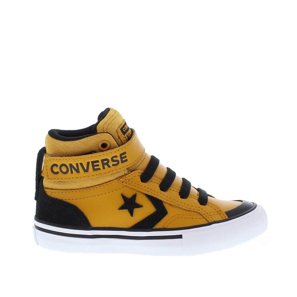 Pro Alta Junior Converse Blaze Ragazzo Hi Gialla Sneaker Strap 53L4RAj