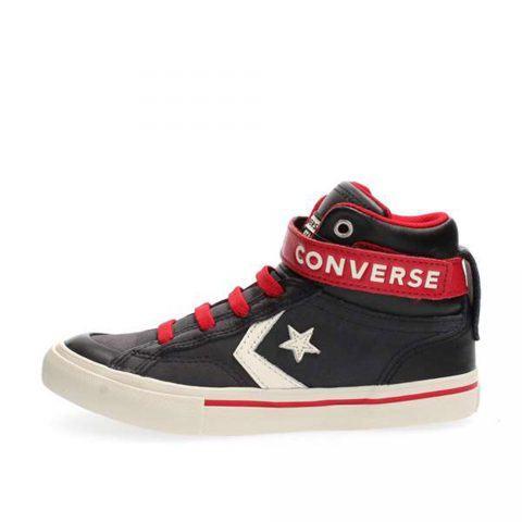 Sneaker Alta Pro Blaze Strap Hi Ragazzo Nera Converse Junior - 662759C