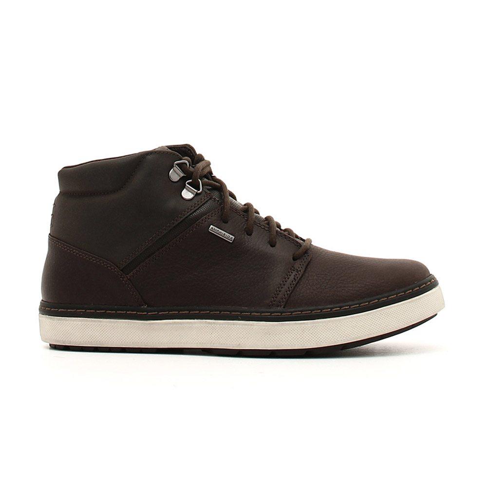 Dettagli su Sneaker Alta Uomo Geox in Pelle Marrone U84T1A046EKC6009