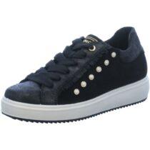 Sneaker Donna Igi&Co in Camoscio con Borchie Nera - 2153900