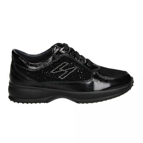 Sneaker Donna Igi&Co in Camoscio e Vernice Nera - 2143200