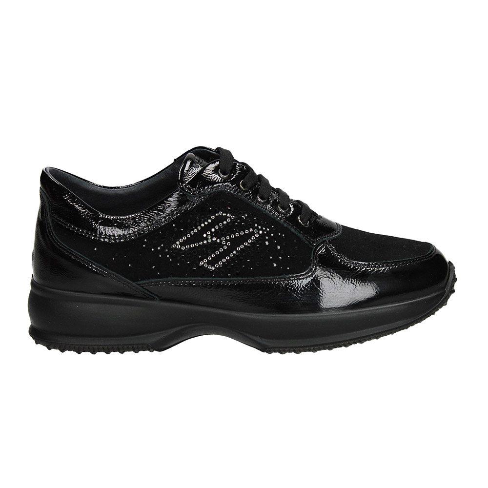 Sneaker Donna Igi Co in Camoscio e Vernice Nera - 2143200 1da44c04524
