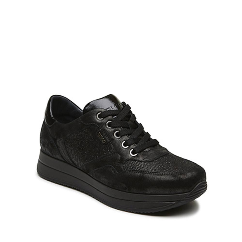 4abf4ad122 Sneaker Donna Igi&Co in Pelle Nera