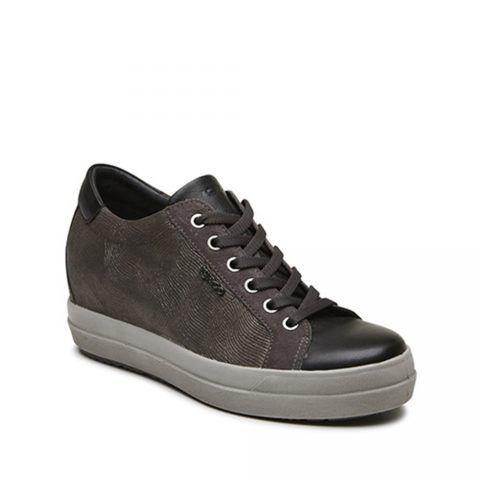 Sneaker Donna Igi&Co in Pelle con Zeppa Antracite - 2155411