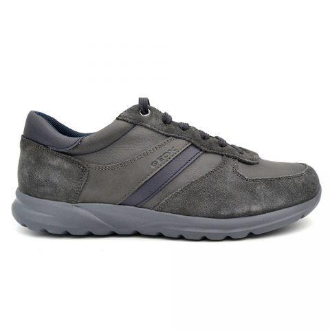 Sneaker Uomo Geox in Camoscio Grigia - U840HB0ME22C9002
